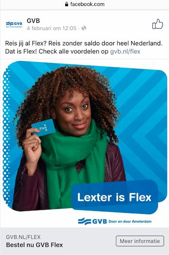GVB Flex campaign (public transportation Amsterdam)